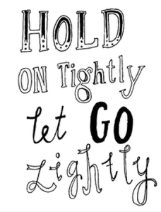 hold on tightly